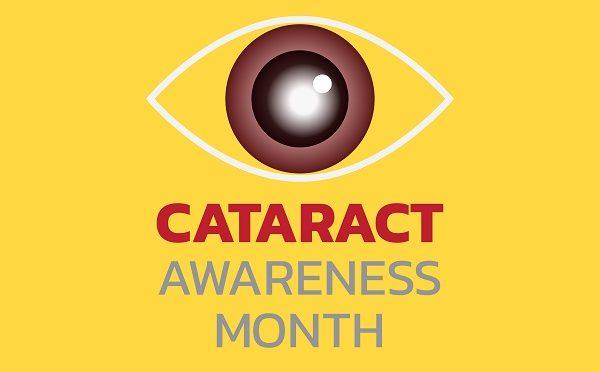 """An image reading """"Cataract Awareness Month"""""""