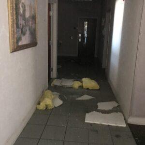 hurricane damage hallway