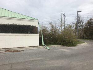 hurricane damage outdoors