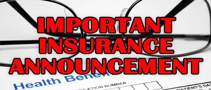 image of important insurance announcement graphic