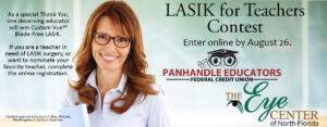 LASIK for teachers contest flyer