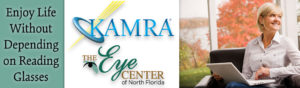 Image of KAMRA and the Eye Center of North Florida banner